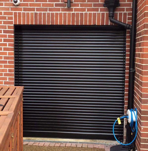 After garage door refurbishment